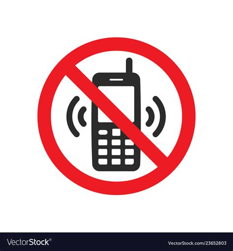 Not Allowed Phone Sign Royalty Free Vector Image