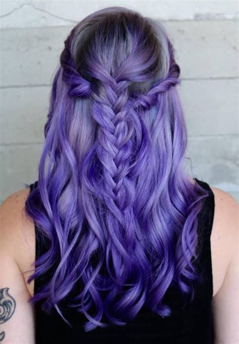 17 Best Ideas About Long Purple Hair On Pinterest Violet