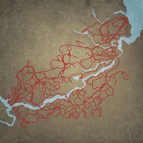 Red Dead Redemption Rock City Map Art City Prints
