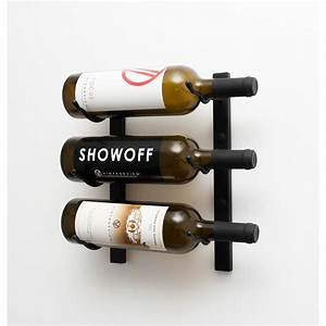 VintageView Wall Series 3 Bottle Wall Mounted Wine Rack ...