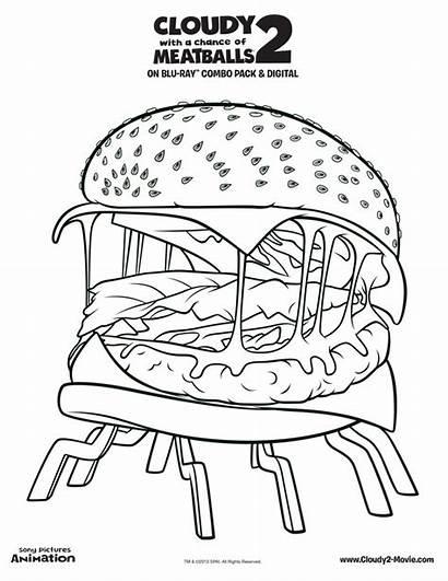 Burger Coloring Pages Printable King Colouring Hamburger
