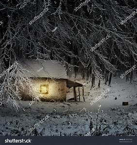 Winter Night Landscape Stock Photo 59527402 : Shutterstock
