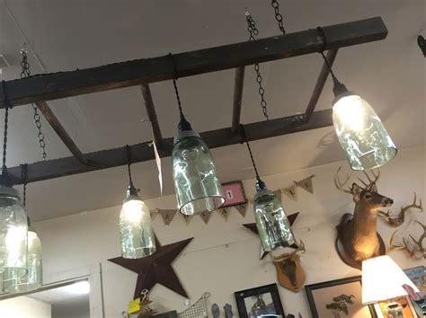 ladder light fixture  ball jars  images