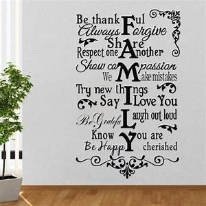Family creative quotes wall sticker english words stickers