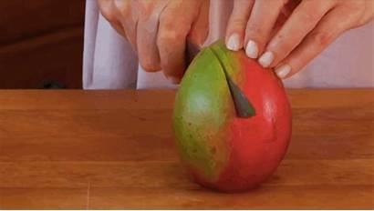 Cut Mango Way Fruit Easy Seed Down