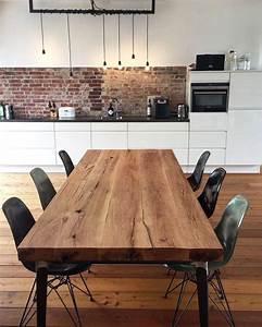 Möbel Im Industriedesign : massivholztisch aus eichenholz tischgestell im industriedesign esszimmertische holz ~ Orissabook.com Haus und Dekorationen