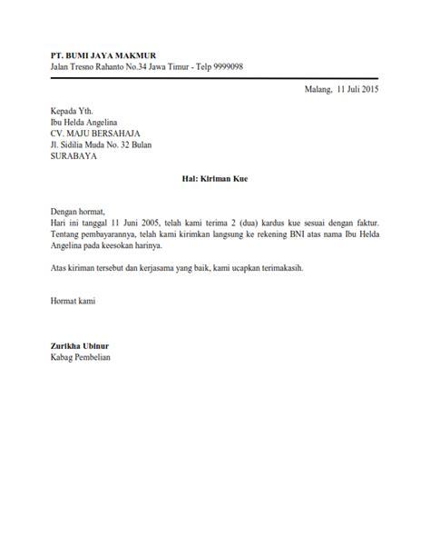 Contoh Surat Resmi Bentuk Full Block Style Kumpulan Contoh Surat