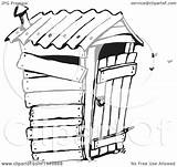 Outhouse Coloring Clipart Sketch Template sketch template