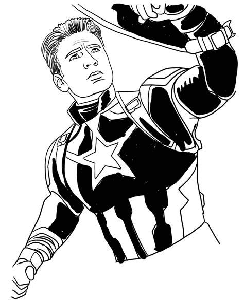 disegno  capitan america  avengers endgame da colorare