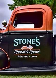 shop old school truck lettering pictures to pin on With old school truck door lettering