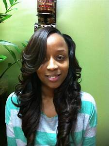 Long weave with layers and side part | Makeup and hair ...