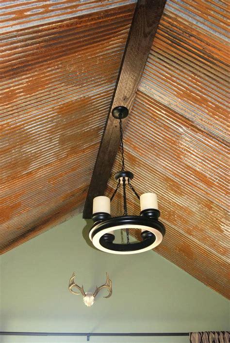 Rusty Barn Tin Ceiling