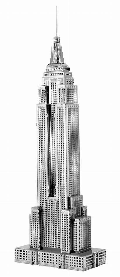 Empire Building State Transparent Premium Earth Metal