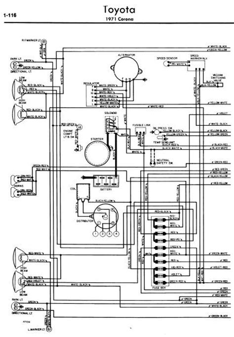 repair-manuals: Toyota Corona 1971 Wiring Diagrams