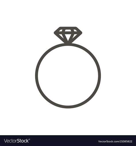 ring icon line ring symbol royalty free vector