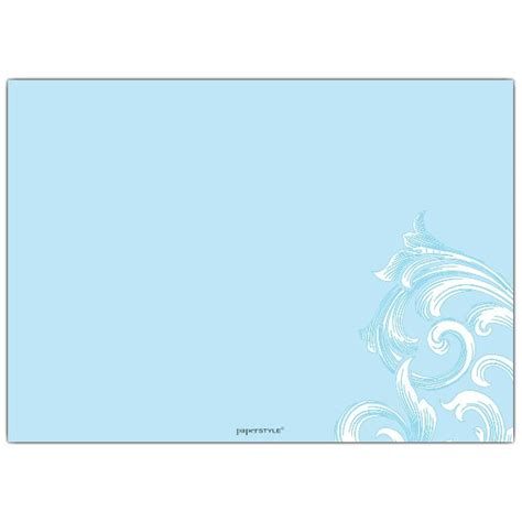 christening cross scroll blue baptism invitations paperstyle