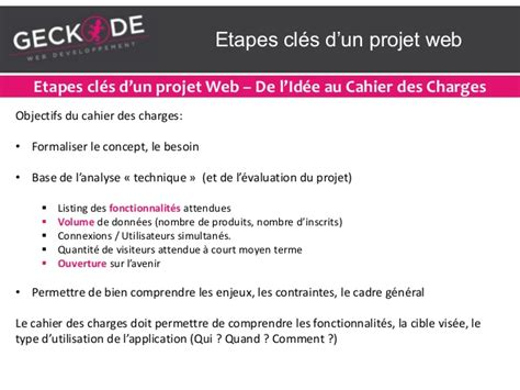 etapes d un projet les 233 cl 233 s d un projet web
