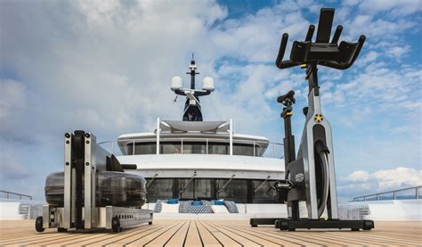 Luxury Yacht Cloud 9  Gym Equipment On The Upper Deck Bow