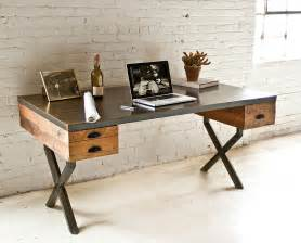 decorating ideas for small bathrooms in apartments steel and reclaimed wood walter desk by richard velloso