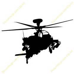 Apache Helicopter Silhouette Clip Art