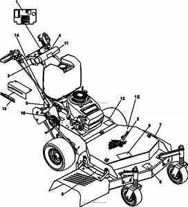 Bunton  Bobcat  Ryan 932007g 16hp Kawasaki 32 Classic Pro Parts Diagram For Decals