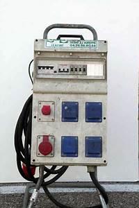 Coffret Electrique Triphase De Chantier Menuiserie Image