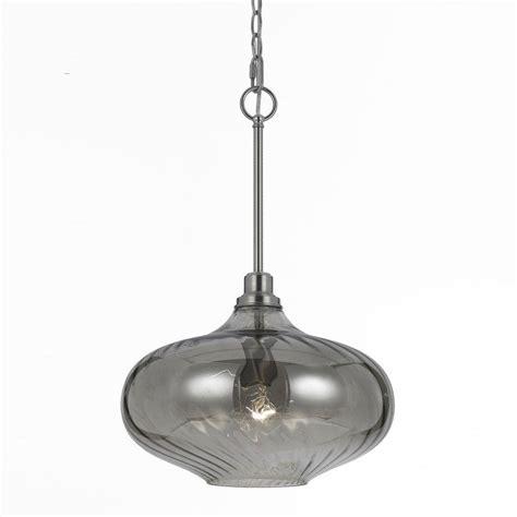 af lighting 1 light iridescent smoke glass pendant