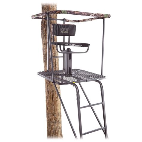 sniper swivel top ladder stand 637203 ladder tree
