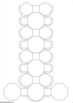 truncated cuboctahedron template 46 best 3d geometric box templates images on pinterest