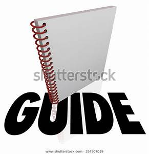 Guide Word Under Instruction Manual Learning Stock