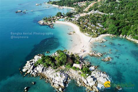 foto drone keindahan destinasi wisata bangka belitung