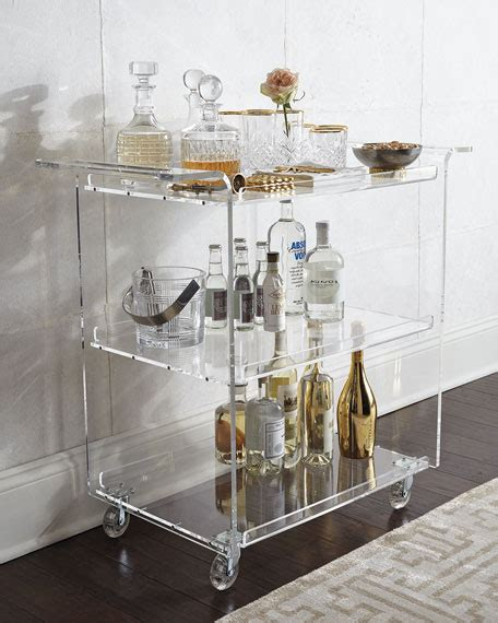 nicole acrylic bar cart
