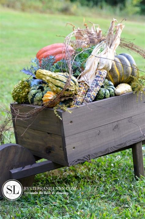 wooden wheelbarrow planter wooden