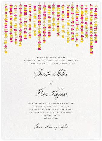 indian wedding invitations   paperless post