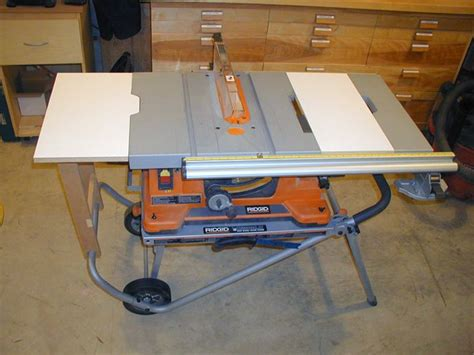 portable table saw outfeed table expand ridgid table saw surface tools pinterest best
