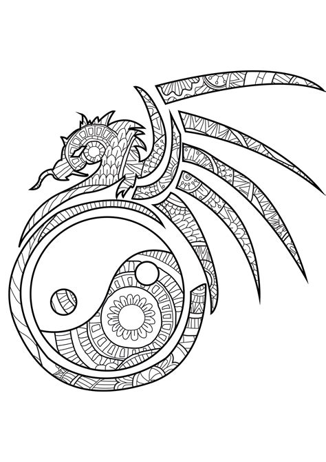 yin   coloring pages  adults