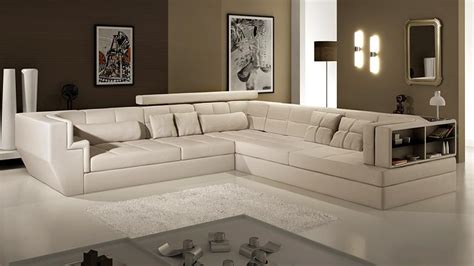 canape d angle grand format canap angle en cuir vachette blanc