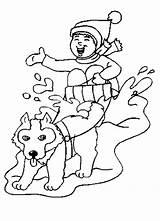 Coloring Sled Dog Drawing Sledding Cartoon Race Colouring Iditarod Minotaur Dogs Sketch Clip Drawings Goldilocks Popular Template sketch template