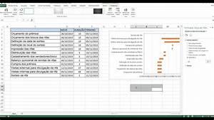 Grafico De Gantt Em Excel
