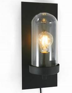Lampe Sous Cloche : lampe cloche verre design industriel de couleur sombre prix competitif ~ Teatrodelosmanantiales.com Idées de Décoration