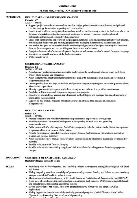 Healthcare Business Analyst Resume by Healthcare Analyst Resume Sles Velvet