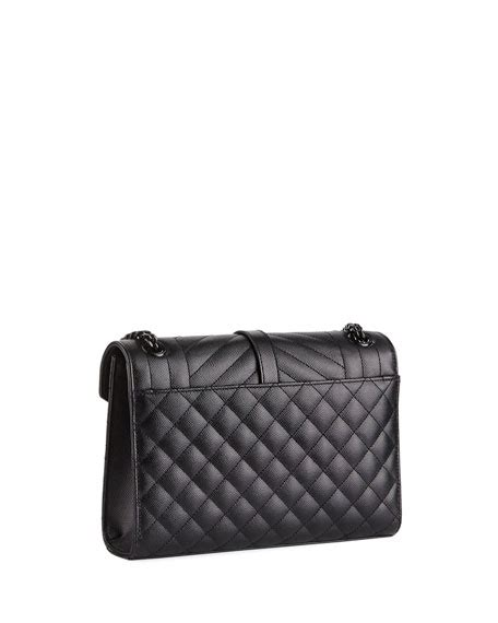 saint laurent  flap monogram ysl medium tri quilt