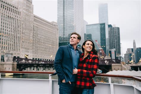 Chicago River Boat Wedding by Chicago River Wendella Boat Architecture Tour Engagement