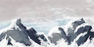 Mountain Range no snow by iamherecozidraw on DeviantArt