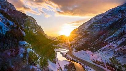 Winter Provo River Mountains Nature Wallpapers Imac