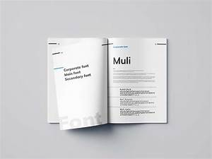 Free Brand Manual Template  Indesign