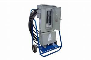 Temporary Power Distribution With 480 Volt Transformer And  12  120v Gfci Outlets - 15 Kva