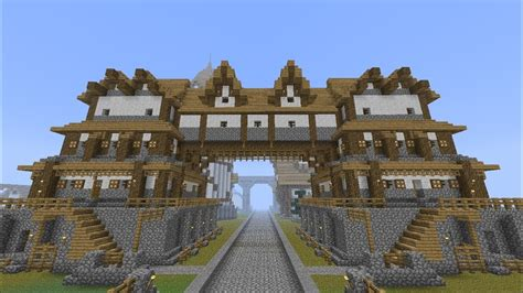 minecraft medieval huge building home tutorial part  youtube