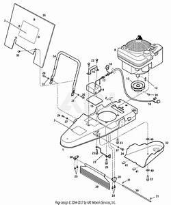 Troy Bilt 52070 Trimmer    Mower Parts Diagram For General Assembly