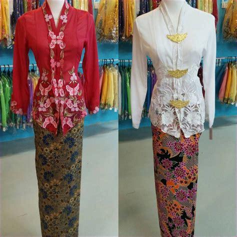 Kebaya Avantie Sets kebaya nyonya set dengan kain batik selisih ready stock